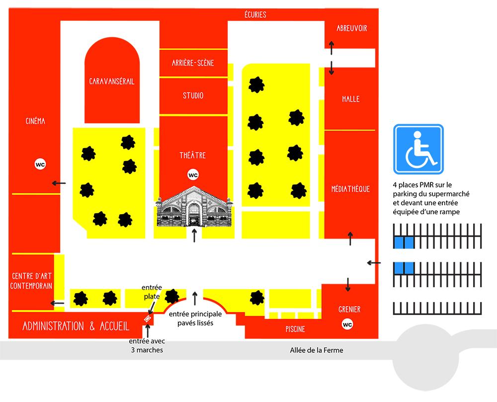 Plan d'accessibilité - La Ferme du Buisson